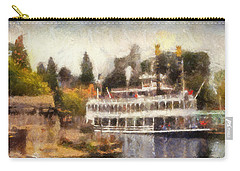 Mark Twain Riverboat Frontierland Disneyland Photo Art 02 Carry-all Pouch by Thomas Woolworth