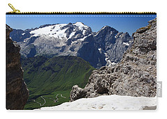 Carry-all Pouch featuring the photograph Marmolada From Saas Pordoi by Antonio Scarpi