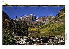 Carry-all Pouch featuring the photograph Maroon Bells by Jeremy Rhoades