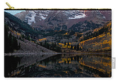 Carry-all Pouch featuring the photograph Maroon Bells by Ronda Kimbrow