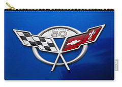 Carry-all Pouch featuring the photograph Marque 50th Anniversary Corvette by John Schneider
