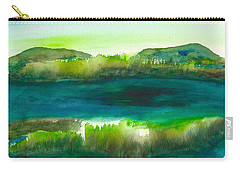 Marsh Abstract 3 By Frank Bright Carry-all Pouch