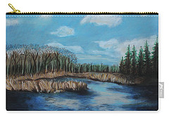 Marshland 1 Carry-all Pouch by Jeanne Fischer