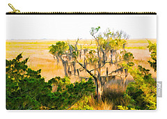 Marsh Cedar Tree And Moss Carry-all Pouch