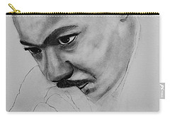 Carry-all Pouch featuring the drawing Martin Luther King Jr. Mlk Jr. by Michael Cross