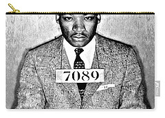 Martin Luther King Mugshot Carry-all Pouch by Bill Cannon