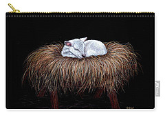 Carry-all Pouch featuring the painting Mary Had A Little Lamb by Dee Dee  Whittle
