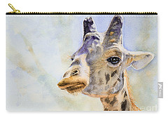 Masai Giraffe Carry-all Pouch by Bonnie Rinier