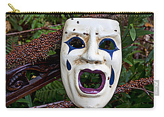 Mask And Ladybugs Carry-all Pouch
