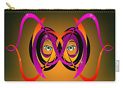 Mask In Purple And Orange Carry-all Pouch