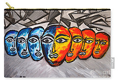 Carry-all Pouch featuring the painting Masks by Ramona Matei