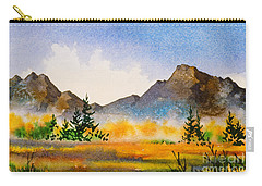 Carry-all Pouch featuring the painting Matanuska Autumn by Teresa Ascone