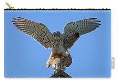 Mating Kestrels Carry-all Pouch