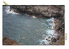 Carry-all Pouch featuring the photograph Maui Cliff by Bryan Keil