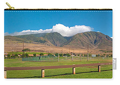 Maui Hawaii Mountains Near Kaanapali   Carry-all Pouch by Lars Lentz