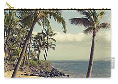 Carry-all Pouch featuring the photograph Maui Lu Beach Hawaii by Sharon Mau