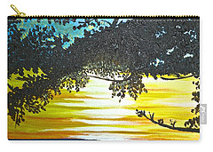 Carry-all Pouch featuring the painting Maui Sunset by Donna Blossom