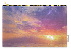 Maui To Molokai Hawaiian Sunset Beach And Ocean Impressionistic Landscape Carry-all Pouch