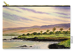 Mauna Kea Golf Course Hawaii Hole 3 Carry-all Pouch by Bill Holkham