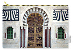 Carry-all Pouch featuring the photograph Mausoleum Doors by Donna Corless