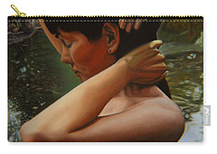 May Morning Arkansas River 3 Carry-all Pouch by Thu Nguyen