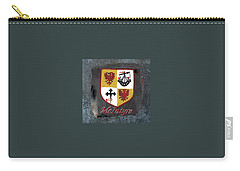 Carry-all Pouch featuring the painting Mcintyre Coat Of Arms by Barbara McDevitt