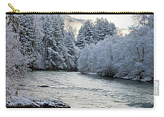 Carry-all Pouch featuring the photograph Mckenzie River by Belinda Greb