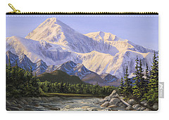 Majestic Denali Alaskan Painting Of Denali Carry-all Pouch