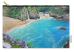 Carry-all Pouch featuring the painting Mcway Falls by Jane Girardot