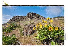 Carry-all Pouch featuring the photograph Meadow Of Arrowleaf Balsamroot by Jeff Goulden