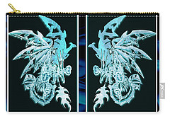 Mech Dragons Diamond Ice Crystals Carry-all Pouch by Shawn Dall