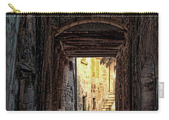 Medieval Alley Carry-all Pouch by Joan  Minchak