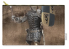 Carry-all Pouch featuring the photograph Medieval Knight by Aaron Berg