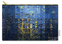 Mediterranean Blue. Modern Mosaic Tile Art Painting Carry-all Pouch