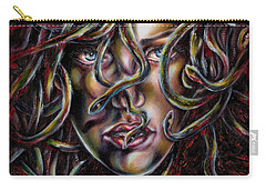Carry-all Pouch featuring the painting Medusa No. Three by Hiroko Sakai