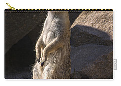 Meerkat Looking Forward Carry-all Pouch by Chris Flees