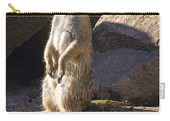 Meerkat Looking Left Carry-all Pouch by Chris Flees