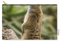 Carry-all Pouch featuring the photograph Meerkat Mongoose Portrait by David Millenheft