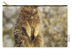 Meerkat On Hill Carry-all Pouch by Pixel Chimp