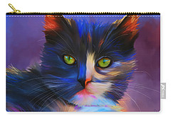 Meesha Colorful Cat Portrait Carry-all Pouch