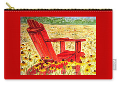 Carry-all Pouch featuring the painting Meet Me In The Meadow by Angela Davies