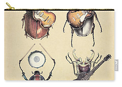 Meet The Beetles Carry-all Pouch by Eric Fan