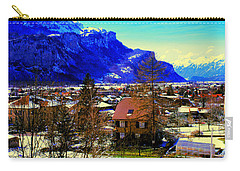 Carry-all Pouch featuring the photograph Meiringen Switzerland Alpine Village by Tom Jelen