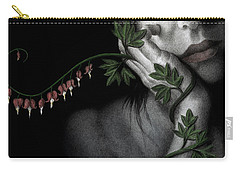 Carry-all Pouch featuring the painting Melancholy by Pat Erickson