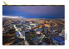 Melbourne At Night Carry-all Pouch by Ray Warren