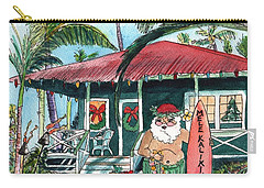 Mele Kalikimaka Hawaiian Santa Carry-all Pouch