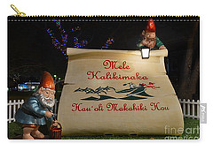 Mele Kalikimaka Sign And Elves Carry-all Pouch
