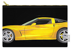 Mellow Yellow Corvette C 6 Carry-all Pouch