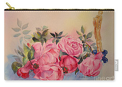 Carry-all Pouch featuring the painting Melody For Roses by Beatrice Cloake