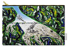 Carry-all Pouch featuring the painting Memetic Process by Ryan Demaree